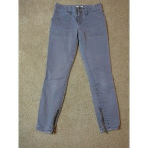 Madewell 26 Gray Wash Skinny Fatigues Jeans Ankle